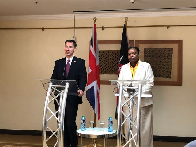 Foreign Secretary Jeremy Hunt visits Africa