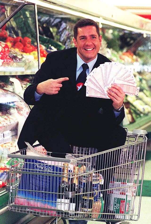 Winton found fame as the presenter of Supermarket Sweep (Tony Harris/PA)