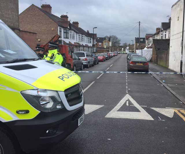 Police activity at Chalgrove Road in Tottenham (Henry Vaughan/PA)