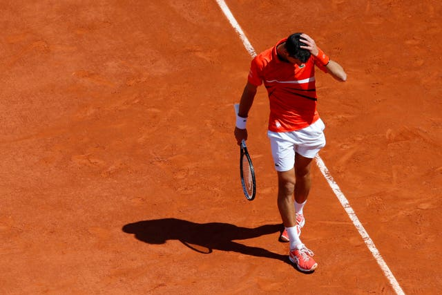 Novak Djokovic's French Open hopes are over for another year