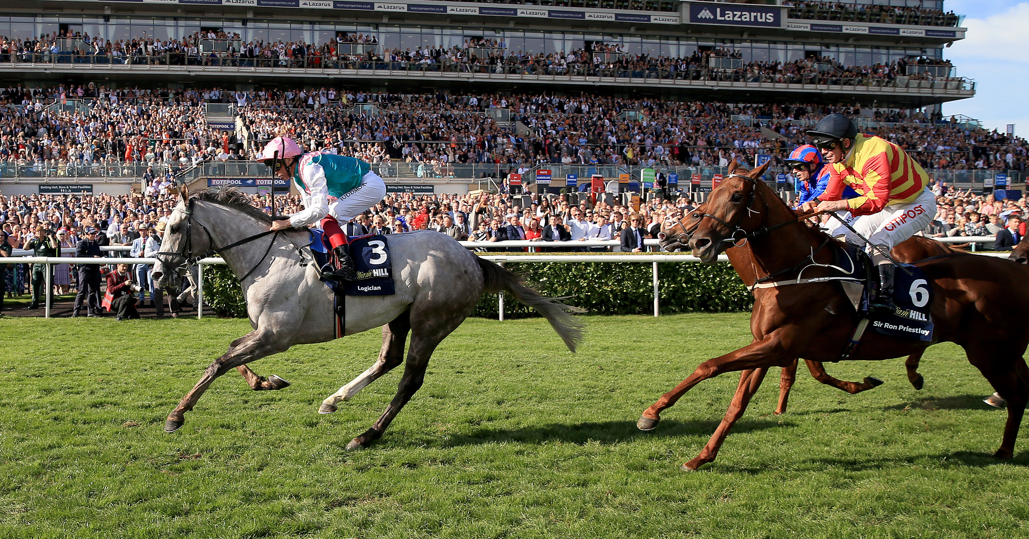 Logician gave Dettori his second Classic of the year in the St Leger