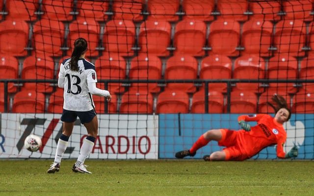 Morgan scored two goals in her short spell in England