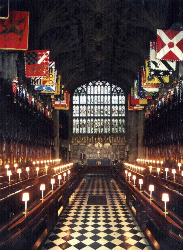 The interior of St George's Chapel, Windsor Castle (Royal Collection/PA)