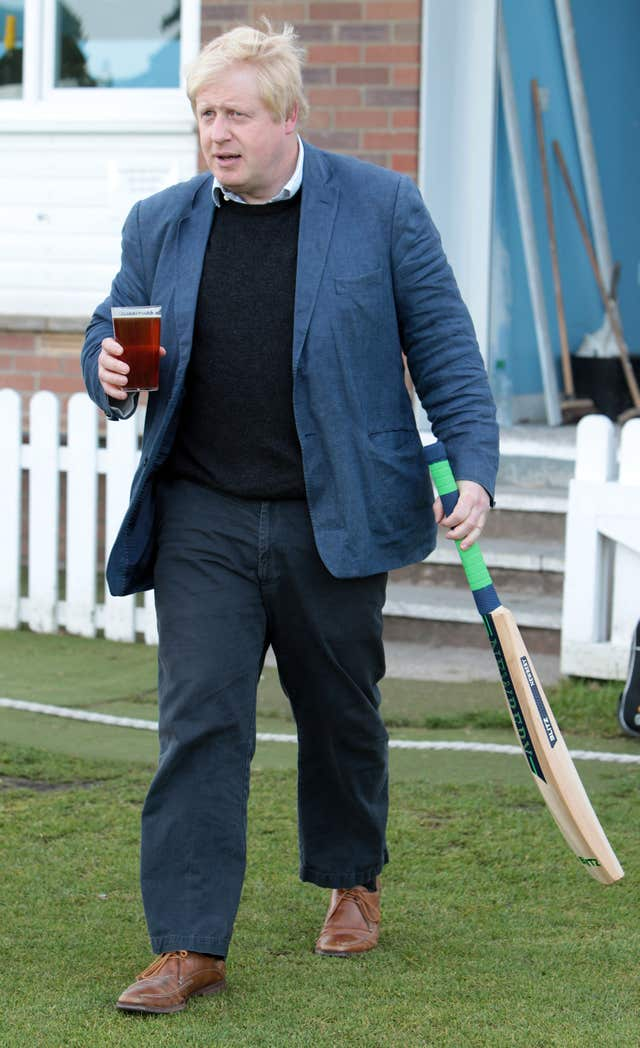 Boris Johnson said he'd love to play cricket again (Peter Byrne/PA)