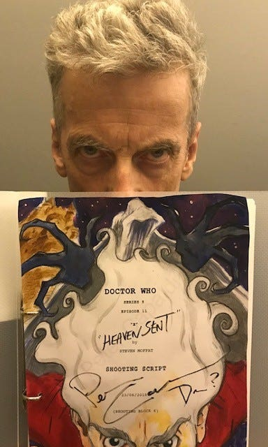Peter Capaldi illustration donated to charity auction
