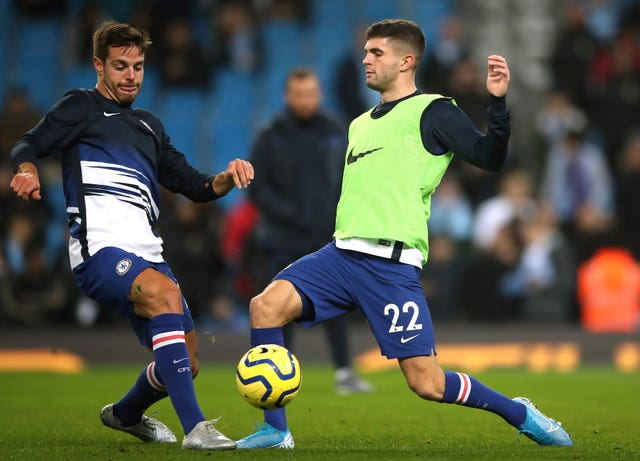 Chelsea's Cesar Azpilicueta (left) and Christian Pulisic have recovered from hamstring problems