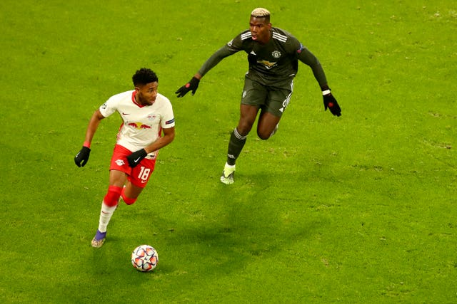 Paul Pogba came off the bench against RB Leipzig