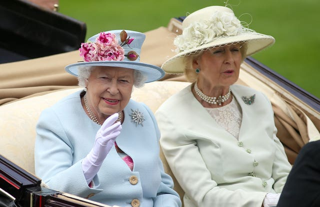 The Queen and Princess Alexandra