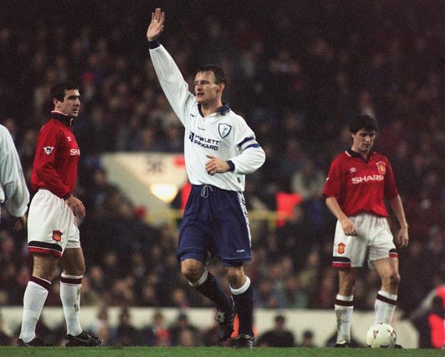 Teddy Sheringham left Spurs for Manchester United in 1997