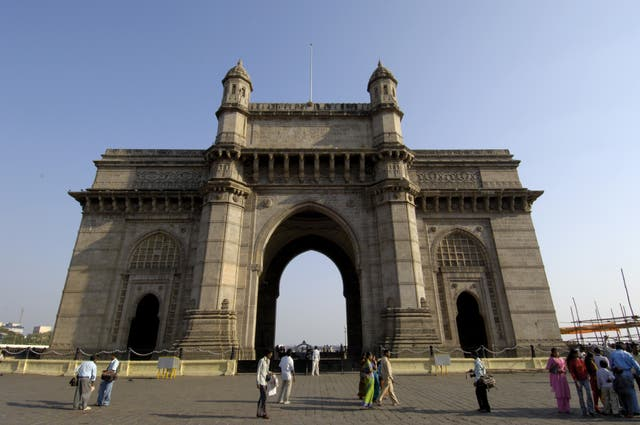 The Gateway of India in Mumbai, the home of Bollywood, where cinemas remain closed because of high death rates (Rebecca Naden/PA)