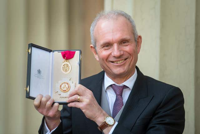 Sir David Lidington after receiving a knighthood for political and public service at an investiture ceremony at Buckingham Palace (Victoria Jones/PA)