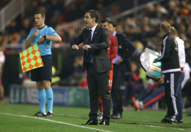 Gary Neville struggled as Valencia manager