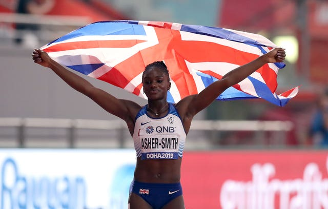 Asher-Smith won gold in the 200m in Doha