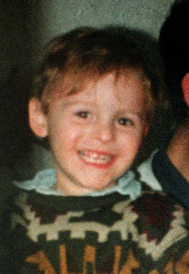 Two-year-old James Bulger was abducted and murdered in Merseyside in February 1993 (PA)
