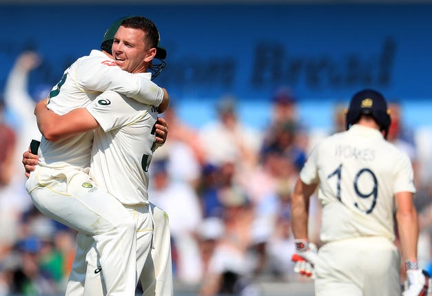 After sitting out the first session, Josh Hazlewood quickly made an impression