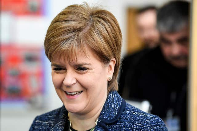 First Minister Nicola Sturgeon said abuse must be challenged for the sake of future female politicians (Jeff Mitchell/PA)