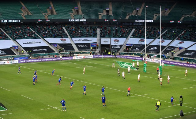 Fans returned to Twickenham for England versus France