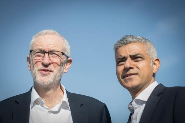 Sadiq Khan and Jeremy Corbyn at Holloway Prison acquirement announcement