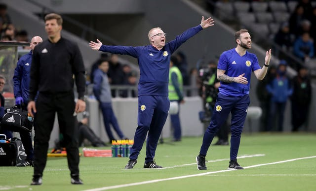 Scotland manager Alex McLeish gestures on the touchline in San Marino