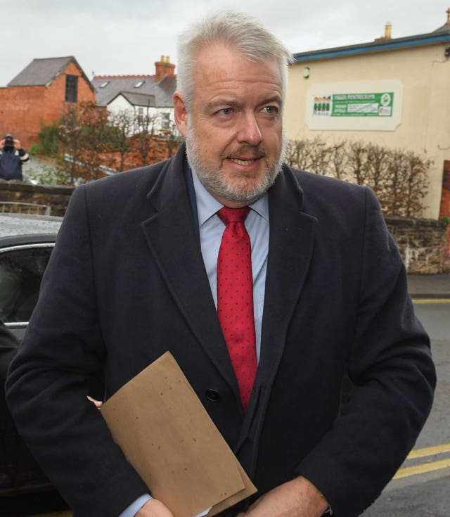 Carwyn Jones arrives to give evidence at the inquest
