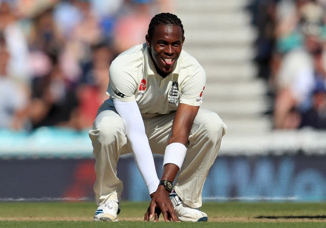 Jofra Archer has been sidelined for at least three months with a stress fracture in his right elbow (Mike Egerton/PA)