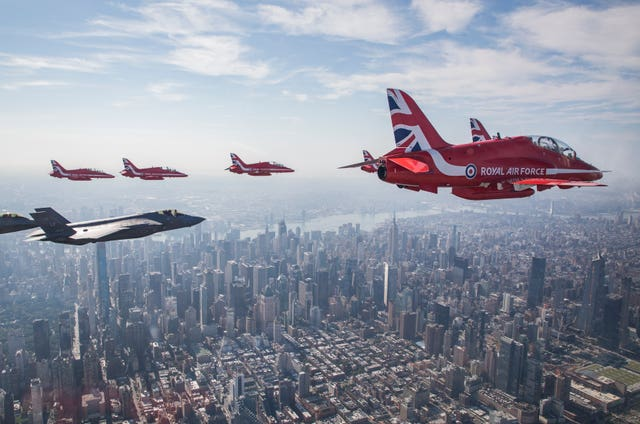 Red Arrows in the US