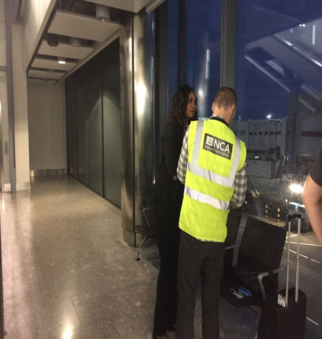Iyamu is stopped at Heathrow Airport