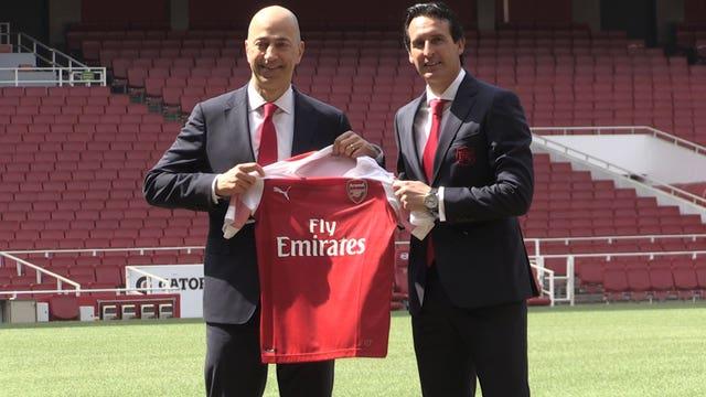 Arsenal press conference with Ivan Gazidis and Unai Emery