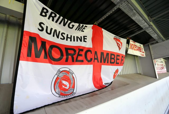 Morecambe are fighting relegation from League Two