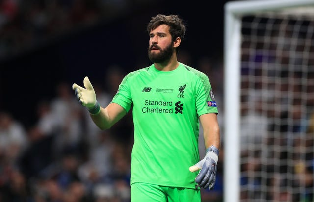 Goalkeeper Alisson Becker was missing for Liverpool at the start of the season