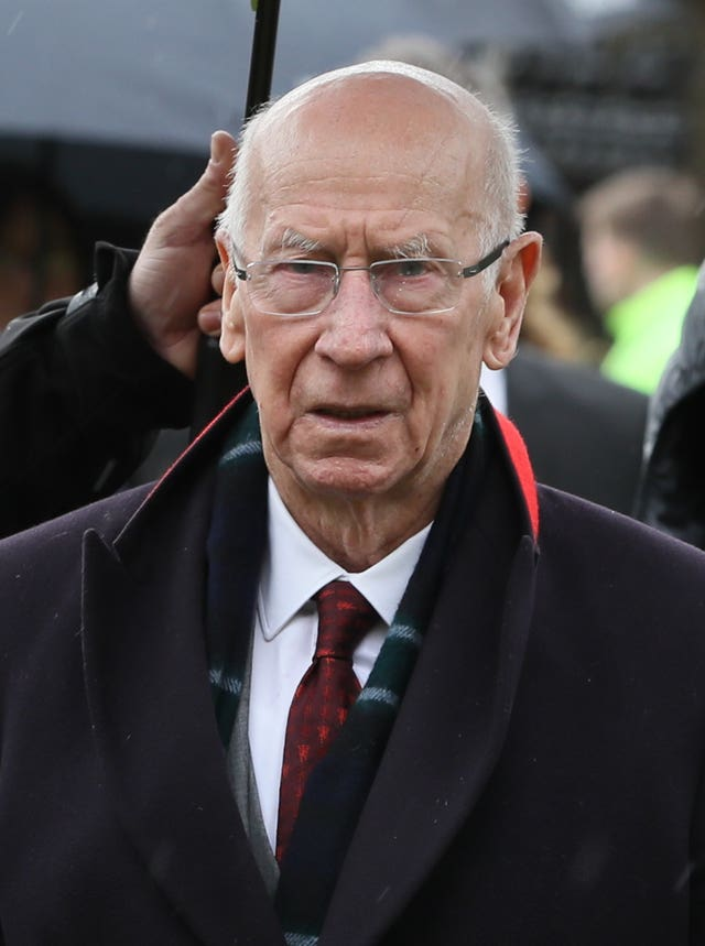 Sir Bobby Charlton was diagnosed with dementia earlier this month