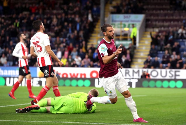 Jay Rodriguez opened the scoring for Burnley against Sunderland