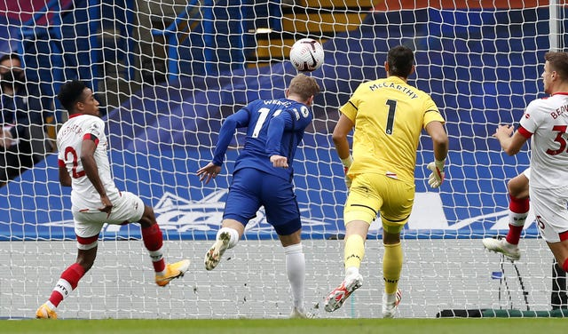 Werner scores Chelsea's second goal