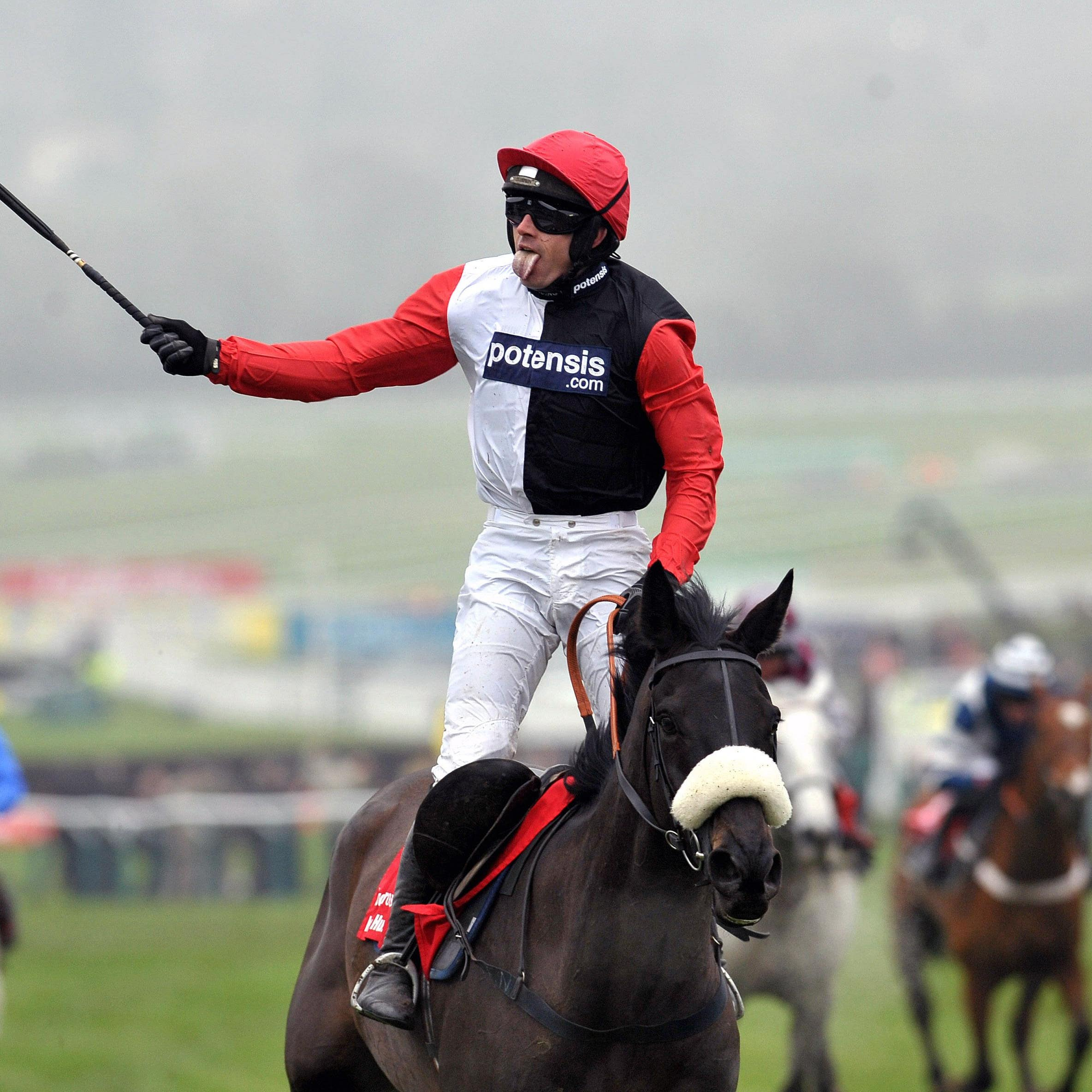 Big Buck's wins his fourth World Hurdle at Cheltenham