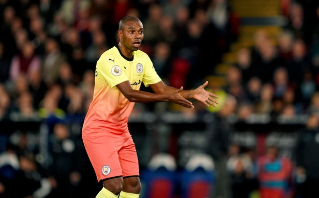 Fernandinho was at the heart of City's defence