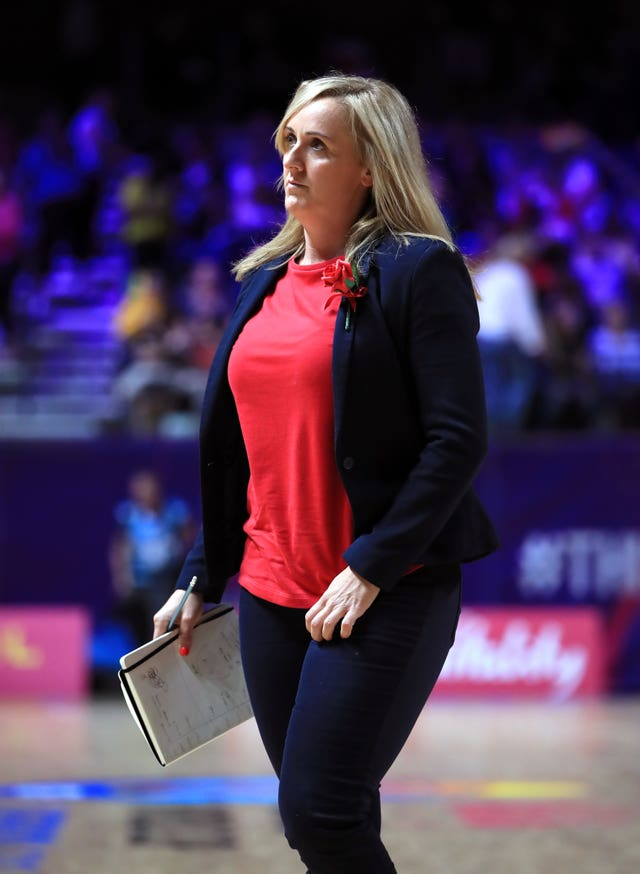 England coach Tracey Neville saw her side defeat Uganda in their World Cup opener