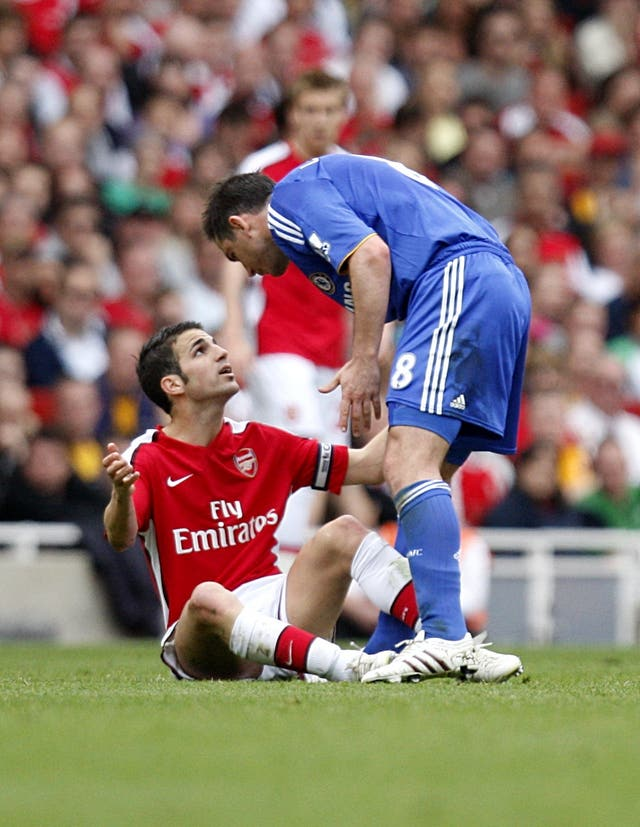 As well as former team-mates Frank Lampard and Cesc Fabregas were also opponents when the latter was at Arsenal