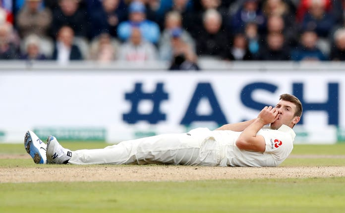 Craig Overton hit the ground on his Test return