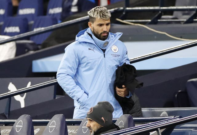 Sergio Aguero has made only three Premier League appearances this season
