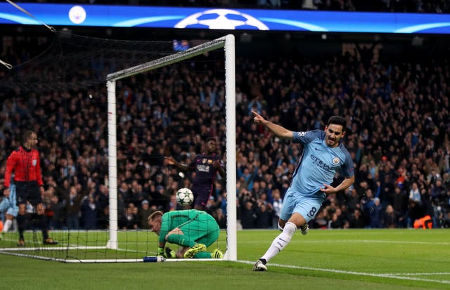 Ilkay Gundogan equalises for City, who did not look back