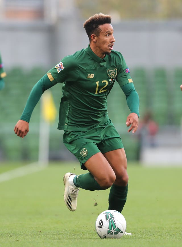 Republic of Ireland striker Callum Robinson missed the England game after testing positive for Covid-19