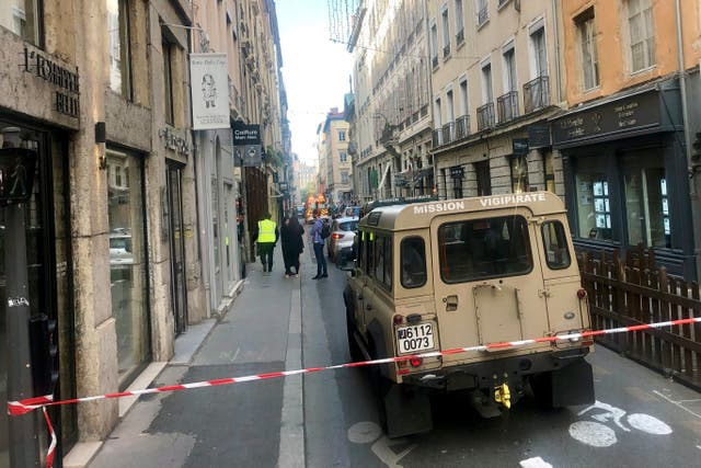 Scene of the attack in Lyon