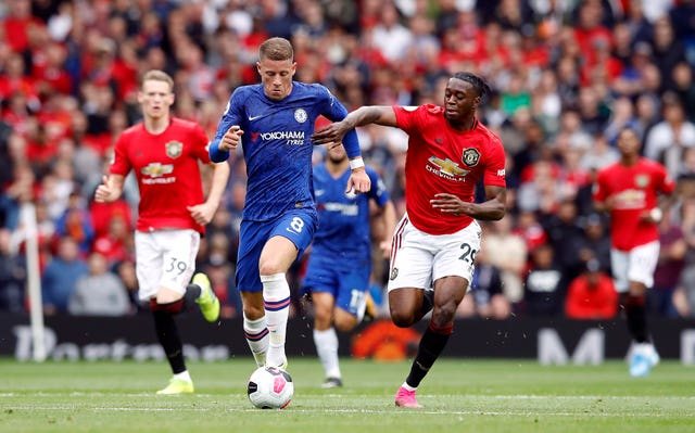 Aaron Wan-Bissaka, right, joins Ross Barkley in the squad