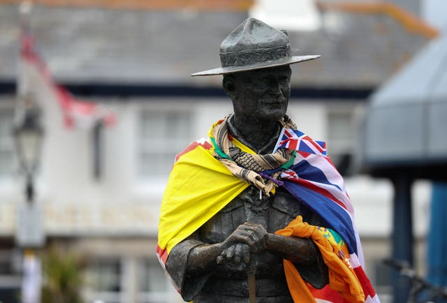 The statue of Robert Baden-Powell on the quay at Poole, Dorset (Andrew Matthews/PA)