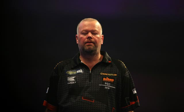 Van Barneveld was knocked out in his first match of the World Championship