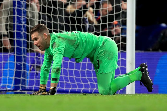 Adrian reacts after being beaten for Chelsea's second goal in Tuesday's FA Cup tie