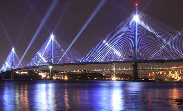 The Queensferry Crossing opened last year (Jane Barlow/PA)