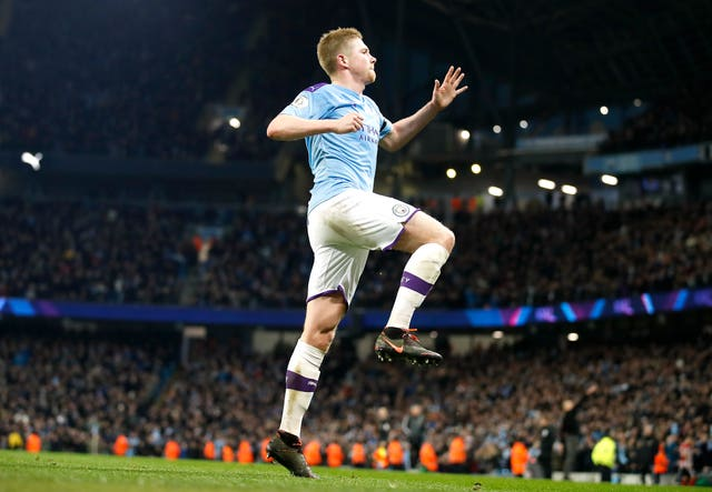 Kevin De Bruyne was on the scoresheet in Manchester City's 2-0 win over Sheffield United