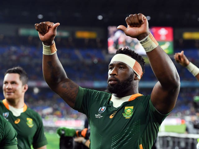 Siya Kolisi is South Africa's first black rugby union captain
