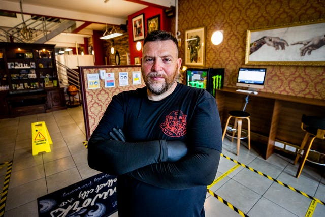 Donal Kelly, manager of Belfast City Skinworks Tattoo and Piercing Studio